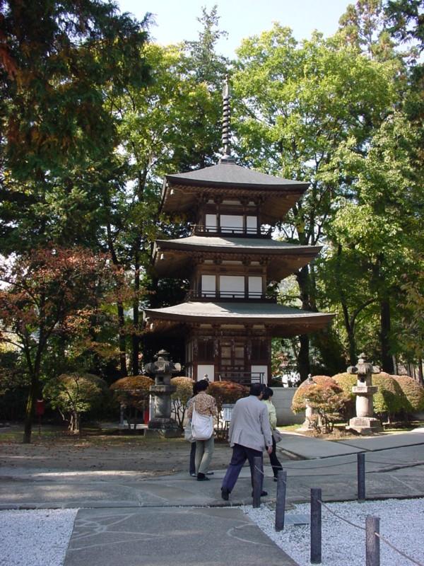 乾徳山恵林寺 三重塔
