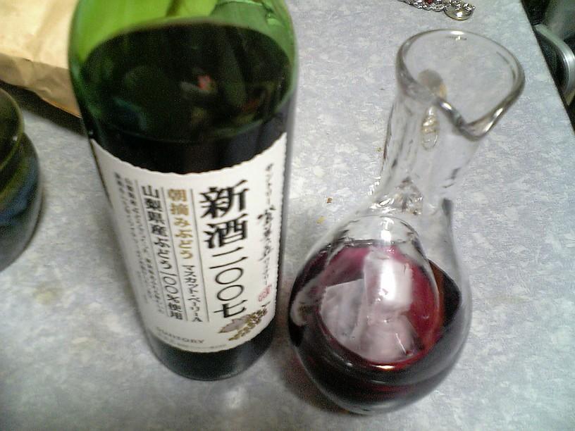登美の丘ワイン 新酒2007