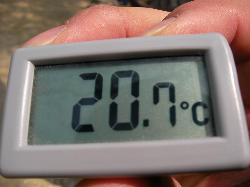 高尾山 頂上の気温